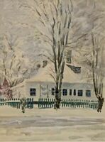 Mystery Russian Artist - Signed - Winter Home Cityscape - Original Painting