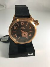 "Vestal Unisex CAN3N06 ""Canteen Zulu"" Rose Gold Stainless Steel Watch with Black"