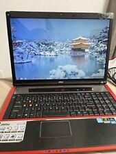 MSI GX720 E7235 Model MS-1722 Windows 7 Gaming Laptop