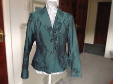 Marc Aurel jacket teal green blue jacket embroidered Size 38 wedding work