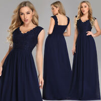 UK Ever-Pretty Womens V-neck Long Formal Evening Party Gowns Cocktail Prom Dress