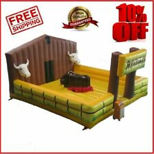 Inflatable Rodeo Mechanical Bull Riding Game Machine w/ Air Blower Can Customize