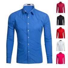 Unbranded Long Sleeve Slim Casual Shirts & Tops for Men