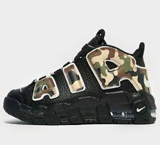 Nike Air More Uptempo 96 niños (tamaño de Reino Unido 13 EUR 31.5) Camuflaje Negro Nuevo