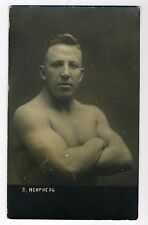 A Nekrasov russian wrestler strong man naked real photo postcard c.1920