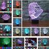 Farbwechsel LED 3D-Illusion USB-Nachtlicht Schreibtischlampe Bedside Dekor ~