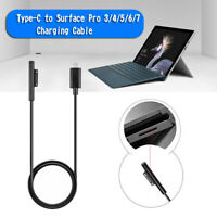 Type-C USB C Connector PD Charger Cable Fit Microsoft Surface Pro 7 6 5 4 3