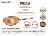 New As Seen On Tv !!! Copper Pan 10.5 Inch Nonstick Frying Pan Kitchen Cookware