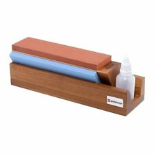 Wusthof Tri-Stone 3-sided Water Sharpening Stone 240/1000/3000 - Knife Sharpener