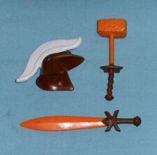 vtg Advanced Dungeons & Dragons Ad&D Mandoom Sword Helmet Hammer parts lot ljn