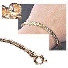 Bracelet plaqué or 18 carats poinçonné maille anglaise 6mm 20cm bijou