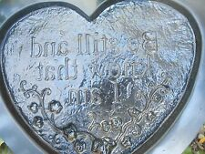 Plaster concrete heart plaque plastic mold see 5000 molds in my ebay store now