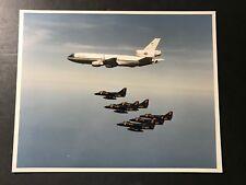 A-4 NAVY BLUE ANGELS SKYHAWK & KC-10 TANKER MCDONNELL DOUGLAS ORIGINAL PHOTO