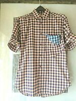 LG Mens Vivienne Westwood MAN Checked Casual Shirt Twist cuff- Original