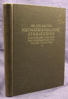 Langer Heimatkundliche Streifzüge des Erzgebirges 1931 Sachsen Saxonica sf