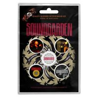 Official Merch 5-BADGE PACK Metal Button Pin Badges SOUNDGARDEN Badmotorfinger