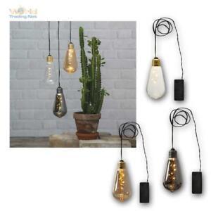 """Deko-Licht """"Glow"""", 5 LED warmweiß, Glas Glühbirne, Lichterkette Batteriebetrieb"""