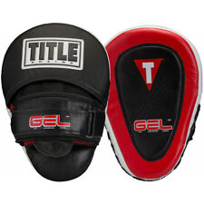 Title Boxing Gel Blockade Contoured Punch Mitts - Black/Red