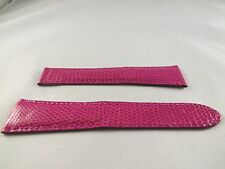 New Authentic Cartier OEM Tank Divan strap Pink Lizard band, 19/14 19mm