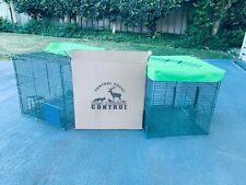 2 Indian Myna Bird Magic humane cage traps by CCD&VC Australia.