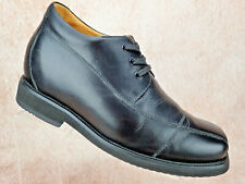 TOTO Elevator Shoe - 3.8 Inches Taller Black Leather Oxford Dress Men's Size 11