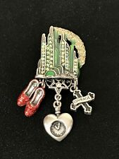 Kirks Folly Wizard of OZ Emerald City Brooch Pin Pendant Charms Ruby Slippers