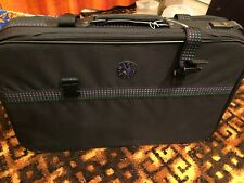 Green/purple fabric suitcase - 26 inches x 17 inches