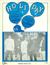 """The Bee Gees 1967 sheet music """"Holiday"""" Barry Gibb Robin Maurice"""