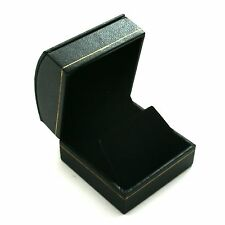 Lot of 12 Black Domed Leatherette Earring Jewelry Display Gift Boxes