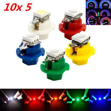 50x T5 B8.4D LED Car Dash Indicator Gauge Light Bulb Blue Amber Red Green White
