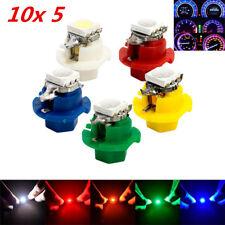 50x T5 B8.4D LED Car Dash Indicator Gauge Light Bulb Blue Amber Red Green White