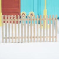 Mini Long Wooden Fence For 1:12 Miniature Dollhouse Decoration  Kit