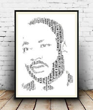 Martin Luther King : I Have a dream Speech Spelled out in poster, Wall art.