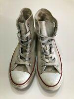 Converse All Star Chuck White Canvas Lace Up Hi Top Shoes Men's Sz 6 Women's 8