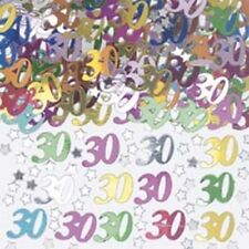 Age 30 Multi-Coloured Table Confetti