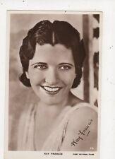 Kay Francis Vintage RP Postcard Actress 568a