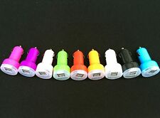 100 WHOLESALE LOT of DUAL DOUBLE USB PORT Car Charger 4 iPhone UNIVERSAL 2.1 A