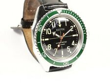 New Custom Bezel Submariner Style for Vostok Amphibian Watch Seiko Green Insert