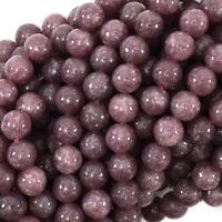 "Purple Lepidolite Round Beads Gemstone 15.5"" Strand 4mm 6mm 8mm 10mm 12mm"