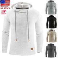 Men's Premium Athletic Soft Sherpa Lined Fleece UP Hoodie Coat Sweater Jacket