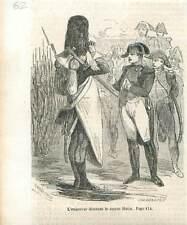 Empereur Napoléon médailles au Sapeur Hutin en 1810 GRAVURE 1851