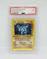 Mint 1st Edition Base Set Pokemon Card Machamp Holo Rare 8/102 PSA First Ed