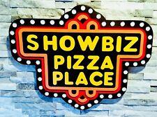 Vintage Showbiz Pizza Sign Chuck E. Cheese Restaurant Wall Art, Mint Condition!