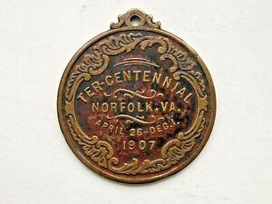 1907 Jamestown Exposition Medallion - Ter Centennial Norfolk VA .