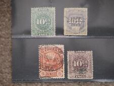 Peruana-Revenue stamps, 1 overprint used, 1 unused, 2 used