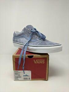 Men's Vans Old Skool Pig Suede Sneaker, Size 12 - Tempest Blue/True White