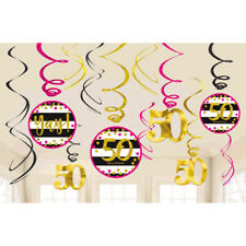50th Celebration Value Pack Swirl Decorations50th Birthday Party Favor Supplies