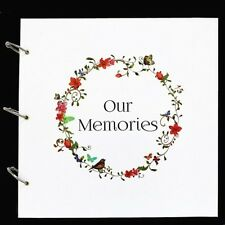 Large White 'Our Memories' Guestbook Weddings, Birthdays Anniversary Photo Booth