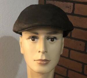 Mens Poet Leather Bailey Of Hollywood High Quality Craftsman Newsboy Cabby Hat L