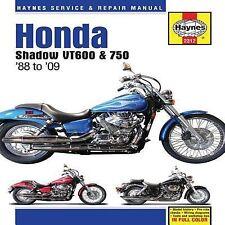 1988-2009 Haynes Honda Shadow VT600 & 750 Hardback Repair Manual